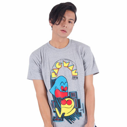 パックマン Arcade Comic`s T-Shirt (Gray)