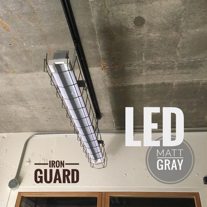 【GR-2LG01】 2灯 LEDライト  つや消しグレー ダクトレール用