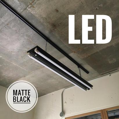 【B-2LF】2灯 LEDライト  つや消しブラック ダクトレール用