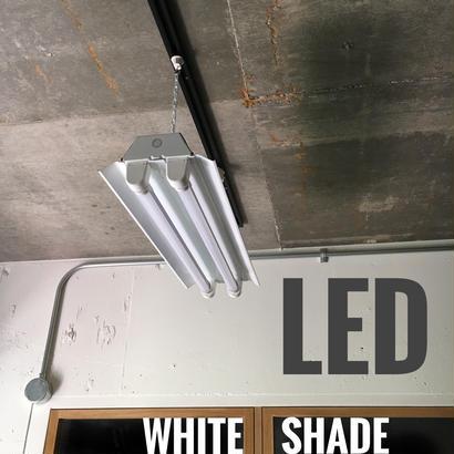【W-2L20K】2灯 笠付き LED蛍光灯 ホワイト ダクトレール用 照明器具