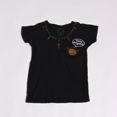 ALM KID'S DOLMAN SLEEVE T-SHIRTS with STAMP / BLK / size : M