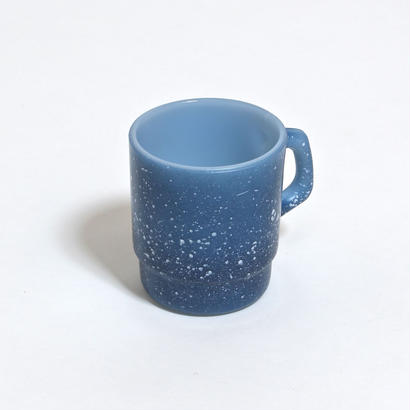FIRE KING STUCKING MUG /  PAMTRY BLUE