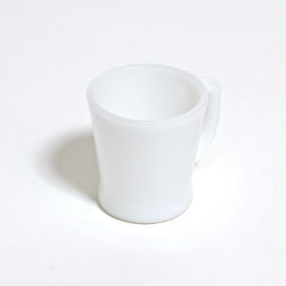 FIRE KING D HANDLE MUG / WHITE