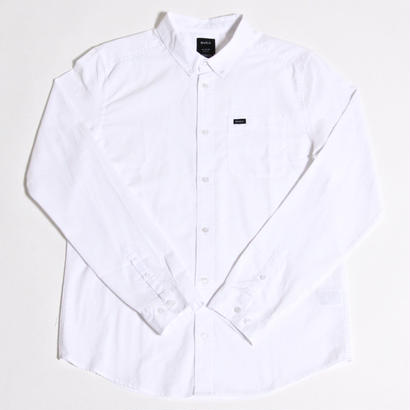 RVCA THATLL DO OXFORD L/S SHIRTS / WHITE