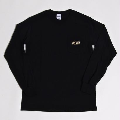 GEE ORIGINAL L/S POCKET T-SHIRTS / BLACK
