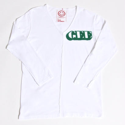 "ALM×GEE V-Neck Solid L/S T-shirts ""GEE"" / GREEN / size:M"