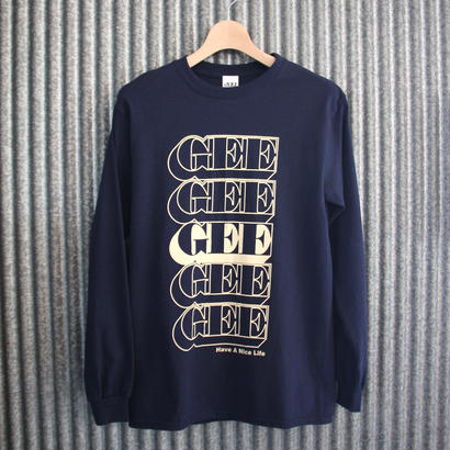 GEE ORIGINAL L/S T-SHIRTS / NAVY