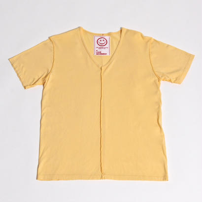 ALM V-NECK T-SHIRTS / YELLOW / size : S