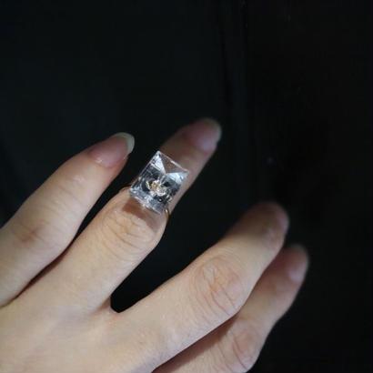 Phalange  ring{ミラーカットクォーツ}