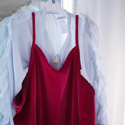 『mikiosakabe』Simple dress  Bordeaux