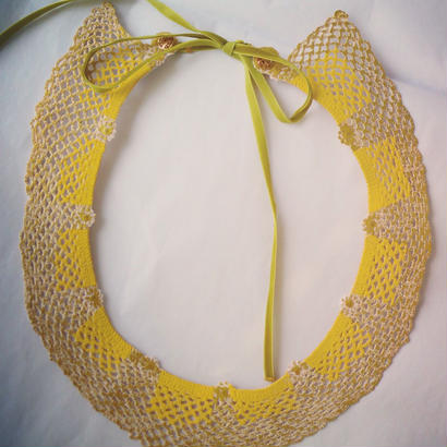 Necklaces,antique and vintage textile transformed [yellowgold]