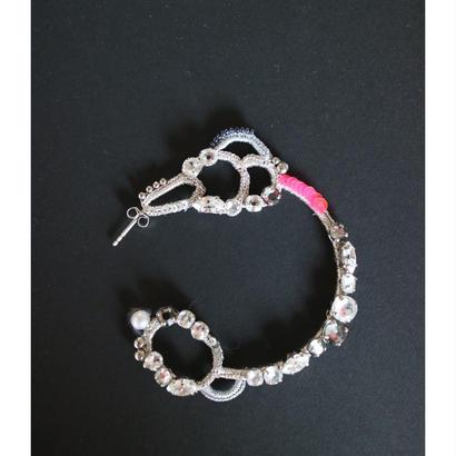 SHINGO MATSUSHITA silver&neon pink piece