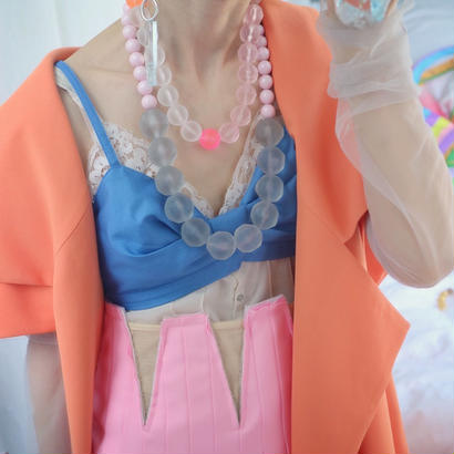 florian necklace  pink×orange
