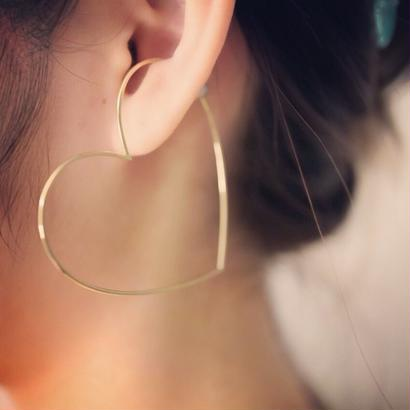 Imago heart  sillimanite.pearl. k18 earcuff