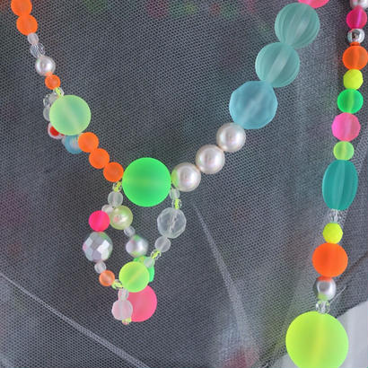 neon mix color necklace