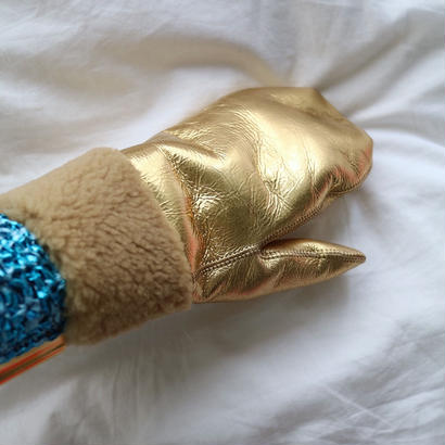 MITTENS  SHEEPSKIN 【gold】