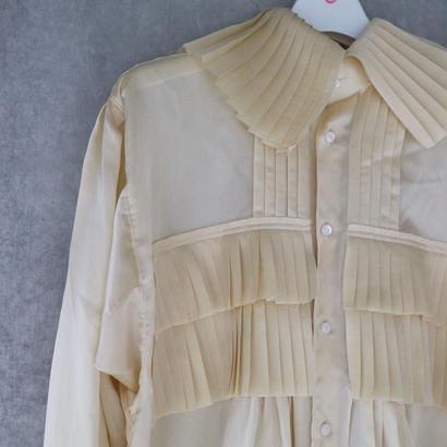 """""""junmikami""""silk  cotton  frill dress"""