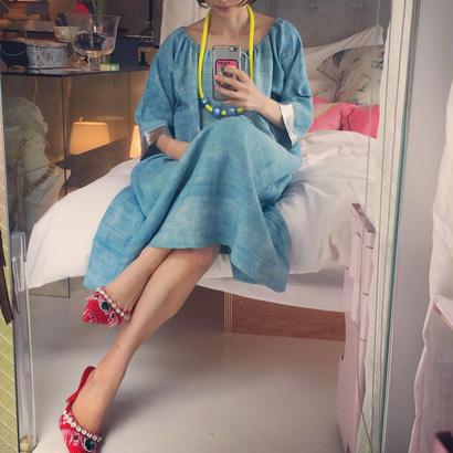 Yuki Fujisawa  blue dress