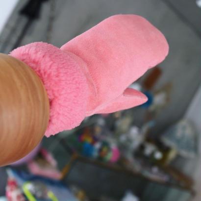 MITTENS SHEEPSKIN 【pink】