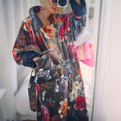 Flower trench coat 【FOMME】