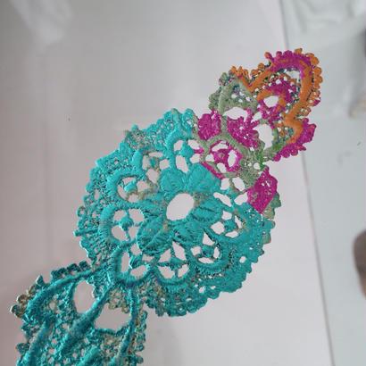 Smaller bracelets antique,vintage and new textile {blue}