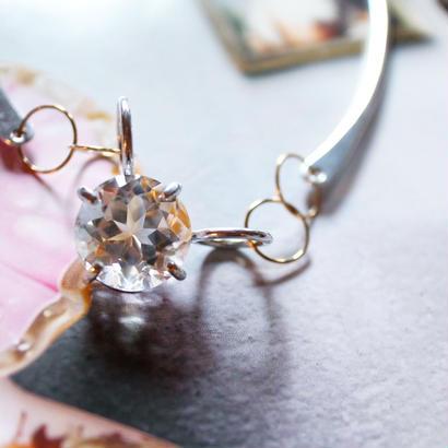 Imago necklacecrystal ・K18・aluminium