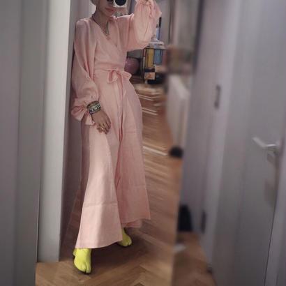 """Linen Dress """"peach pink"""""""