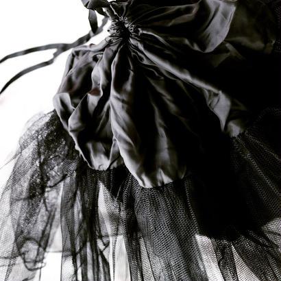 tulle bag  black
