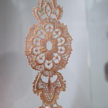 Smaller bracelets,textile [gold&green]