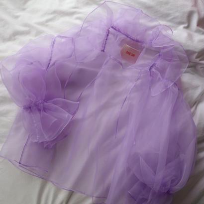 """siiilon"" frill blouse  lavender"