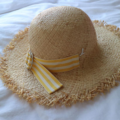 Yellow  ribbon hat