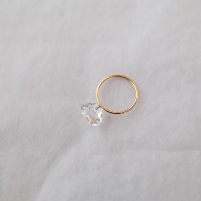Herkimer quartz  joint ring