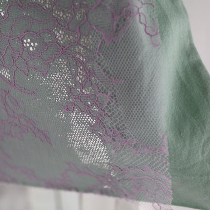 conceal print tote  lace  emerald