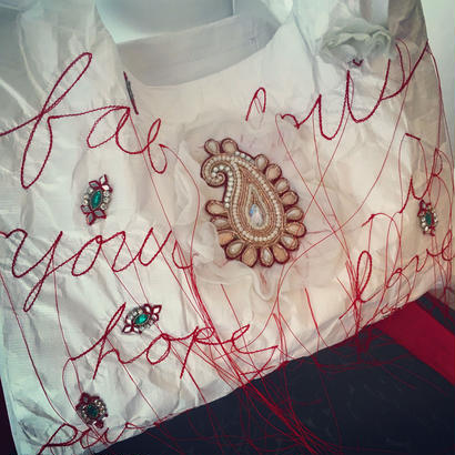 Luxury Marche bag red