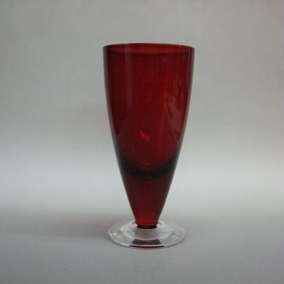 台付きグラス 赤
