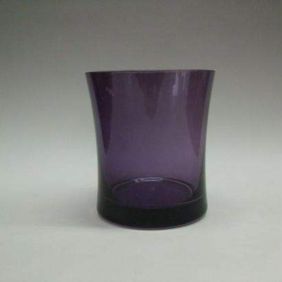 クリスタル被せオールドグラス 紫