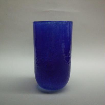 宙吹きパウダー被せグラス 青