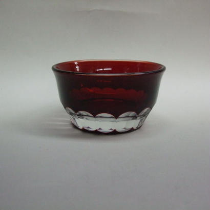 被せ小付鉢 赤 袴磨き