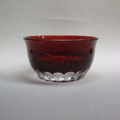 被せ小鉢 赤 袴磨き