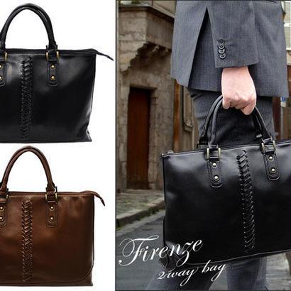 フィレンツェ FIRENZE イントレライン ビジネスバッグ 082240 ブラック 新品
