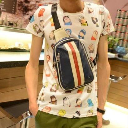 メンズバッグ&ファッション レザーボディバッグ 全4色 新品