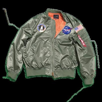 NASA MA-1 Flight Jacket (Khaki) TopCoat / MA-1フライトジャケット (カーキ) 薄手