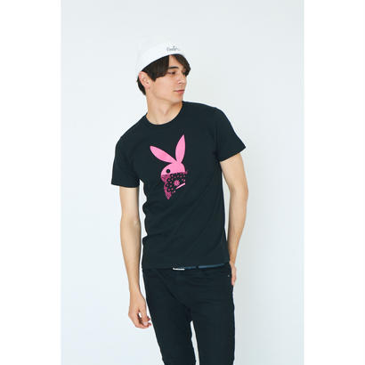 BANDANA RABBIT T-SHIRT/BLACK GDT-003