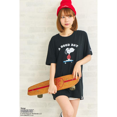 GP×SNOOPY SKATE T / BLACK GST-002