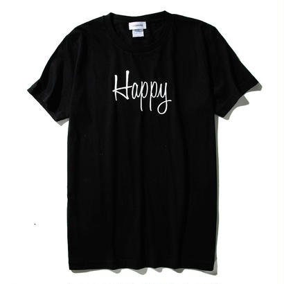 HAPPY T-SHIRT/BLACK GDT-009