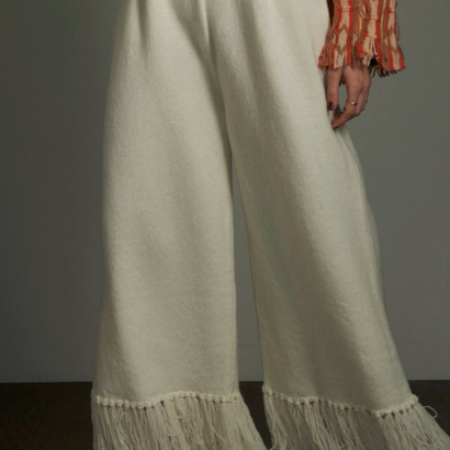 TAN 「FRINGE  pants」