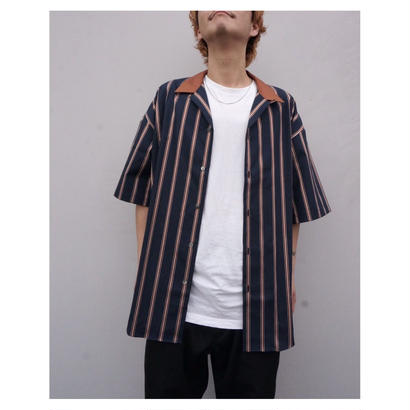 SON OF THE CHEESE「Stripe Cleric Shirt」