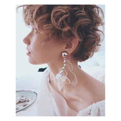 THE  Dallas「clear reef earring」