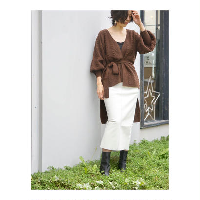 DOMENICO+SAVIO「PUFF SLEEVE KNIT CARDIGAN」