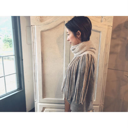 THE Dallas 「FRINGE NECK」 beige